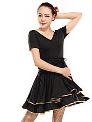 Latein-Tanz Kleider Damen Elastische Satin