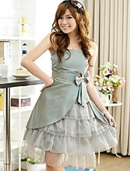 Women's Party Solid Ball Gown Dress , Strap Knee-length Polyester