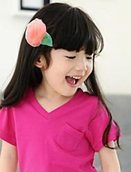12pcs enfants mousseline rosette hairgrips de fleurs pour le bébé / enfants de la mode pinces à cheveux accessoires pour cheveux