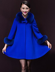 Women's Round Collar Fashion Elegant Wool Jackets (More Colors)