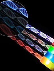12pcs LED de couleur de baguette magique lumière changeante flash bâton lumineux pour concert de fête de noël de halloween (couleur aléatoire)