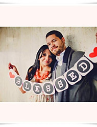 "Wedding Décor ""Blessed""  Photo Props Engagement Party Banner"