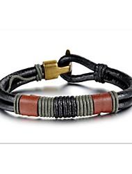 cuir personnalité tissé bracelet bijoux pour hommes