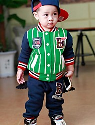 Boy's Long-sleeved Suit Spring And Autumn New Korean Foreign Trade Thick Clothing Set