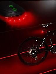 Bike Light,LS083 Bicycle 5 Led Laser Light Laser Beam Bike Rear Tail Lamp Light,Safety