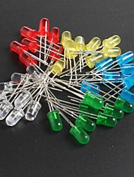 LED5MM Red, Green, Blue And Yellow Light-Emitting Diodes 10 Each, Total  50Pcs
