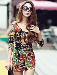 alle passenden bodycon Print Kleid ccoco zhang Frauen