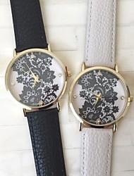 леди кружева напечатаны часовой стали на дне корпуса восстановлению древнего Женеве кварцевые часы (разных цветов)