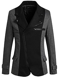 Men's Long Sleeve Regular Blazer , Cotton/Polyester