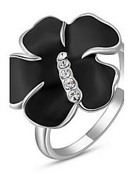 requintado Roxi das mulheres levantou-dourado banhado preto subiu anéis de instrução (1 pc)