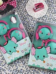 souper de bonbons de couleur joli petit éléphant écouteurs