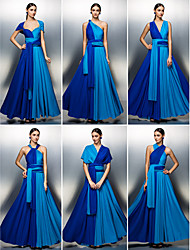 Prom/Formal Evening Dress - Multi-color A-line Floor-length Jersey