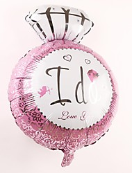 Wedding Décor Diamond Ring Metallic Balloon - I Do(More Color)