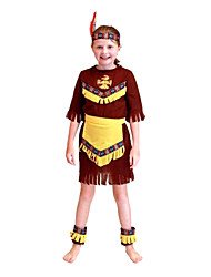 Halloween Costumes for Children Cos Mask Dance Performances Indian Prince Serving Indian Maid Service