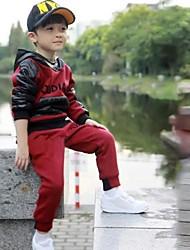 Boy's Fashion Leisure Long Sleeved Three Piece Clothing Set