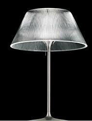 mesa de vidro Llamp moderna minimalista moda listras trombeta