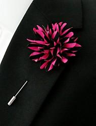 polyester main les fleurs de revers des hommes boutonnière multi-couleurs