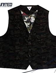 H-United® Men's Big Size V-Neck Waistcoat Size 2XL-6XL Plus Size Cotton Sleeveless Slim-Fit Vest
