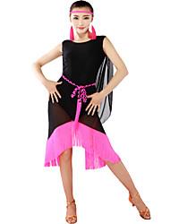 Latin Dancewear Women's Qmilch Latin Dance Dress Including Dress And Belt(More Colors)