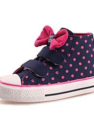Fille-Décontracté-Noir / BleuConfort-Sneakers-Coton