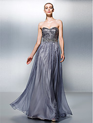 TS Couture® Dress Plus Size / Petite A-line Sweetheart Floor-length Tencel with Beading / Sequins