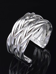 Woman's Fashion Silver Plated Adjustable Open Ring