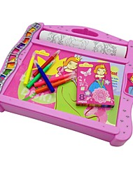 Kids Pink Color Drawing Craft Art Writing Board Educational Toy