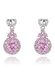 cadeaux roxi classiques véritables cristaux autrichiens shinning rose zircon de la mode pendentif boucles d'oreilles de femmes (1 paire)
