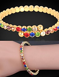 U7® Girls Cute Colorful Bracelets Brand 18K Gold / Platinum Plated Austrian Rhinestone Cuff Bracelet Fashion Jewelry