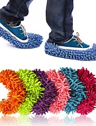 расслабленной lazyboots Зачистка покрытия уборка тапочки обуви из синели взрослого (больше цветов)