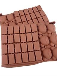 30 buracos moldes forma urso estrutura bolo de gelo geléia de chocolate, silicone 18 × 12,5 × 2 cm (7,1 × 4,9 × 0,8 polegadas)
