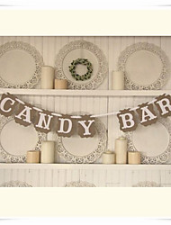 "Wedding Décor Popular Rustic ""CANDY BAR"" Kraft Paper Handmade  Banner Bunting Dessert Table Decor"