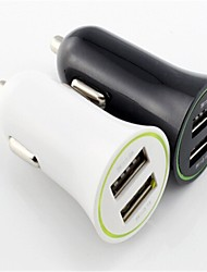1A/2.1A Dual USB Car Charger for iPhone 6/6 Plus/iPad and Others(Assorted Color)