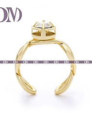 OM® Gold-tone Infinity Ring with Gem