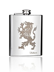 Personalized Gift 7oz Stainless Steel  Hip Flask - Lion