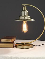 antigua lámpara de bronce país americano de la vendimia