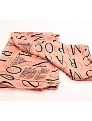 Women's Fashion Chiffon Letters Long Scarf