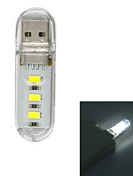 USB 2.0 1W 70lm 3x5730LED White Mobile Power USB Light