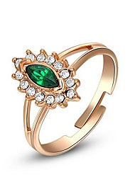 Women's Roxi Exquisite Rose-Golden Green Eyes Statement Rings(1 Pc)