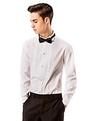 White Square Front Tuxedo Shirt