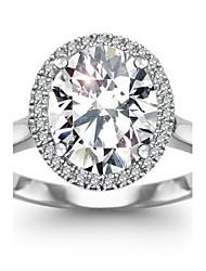 овальная CZ обручальное кольцо