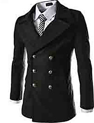 moda masculina masculino lapela gola do casaco térmico