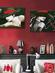personnalisé toile e-FOYER impression la femme 35x50cm 40x60cm 50x70cm encadrée peinture sur toile ensemble de deux