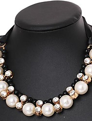 Women's Fashion Pearl Sequin Manually Produced Necklace