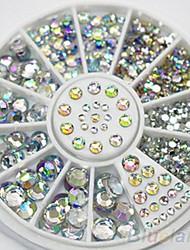 4 размер 300pcs Nail Art Советы кристалл блеск горный хрусталь украшения колесо Nail Art Decoration