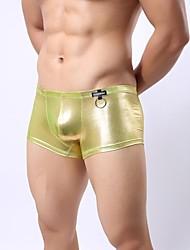 anillos de los hombres de cuero de imitación de los boxeadores de la ropa interior