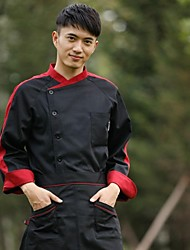 Ресторан Униформа с длинным рукавом шеф-повар пальто с одно- breated кнопок