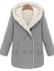 Z.Y.P Women's Winter Western Cotton Slim Warm Thicken Medium Long Coat