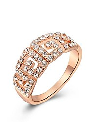 classic ouro cristal austria das mulheres banhado declaração anéis s liga double (1 pc)