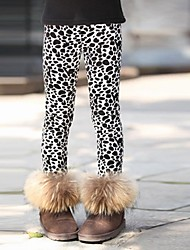 Girl's Brown / White Leggings,Leopard Cotton Winter / Spring / Fall